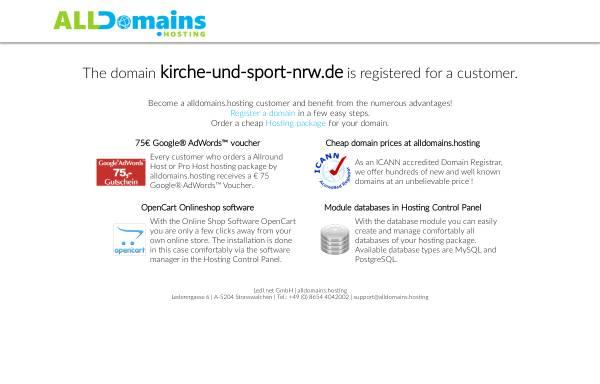 Vorschau von www.kirche-und-sport-nrw.de, Landesarbeitskreis Kirche und Sport in NRW