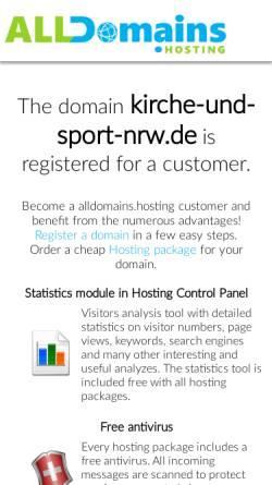 Vorschau der mobilen Webseite www.kirche-und-sport-nrw.de, Landesarbeitskreis Kirche und Sport in NRW