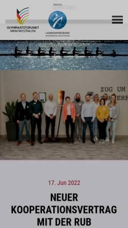 Vorschau der mobilen Webseite www.osp-westfalen.de, Olympiastützpunkt Westfalen