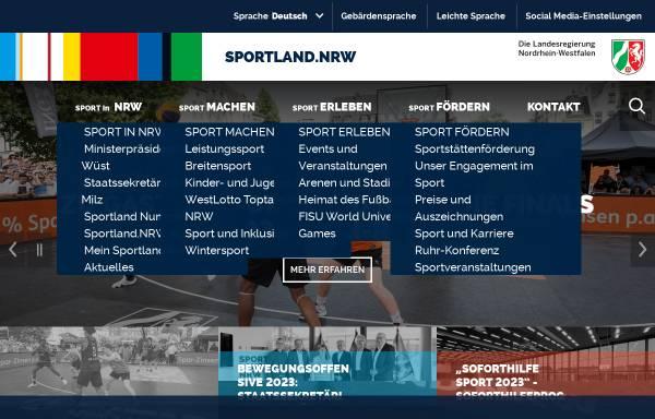 Vorschau von www.sportland.nrw.de, Sportland Nordrhein-Westfalen