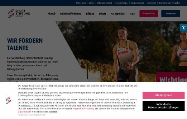 Vorschau von www.sportstiftung-nrw.de, Sportstiftung NRW