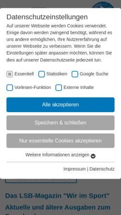 Vorschau der mobilen Webseite www.wir-im-sport.de, www.wir-im-sport.de