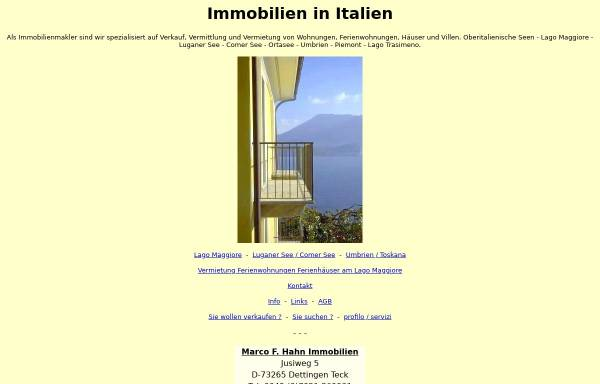 Vorschau von www.immobilien-italien-mfh.com, Marco F. Hahn Immobilien