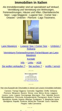 Vorschau der mobilen Webseite www.immobilien-italien-mfh.com, Marco F. Hahn Immobilien