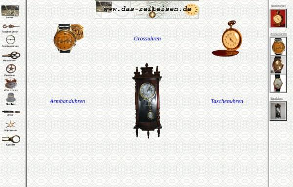 Vorschau von www.das-zeiteisen.de, Sammleruhren - Antike Uhren - Alte Uhren