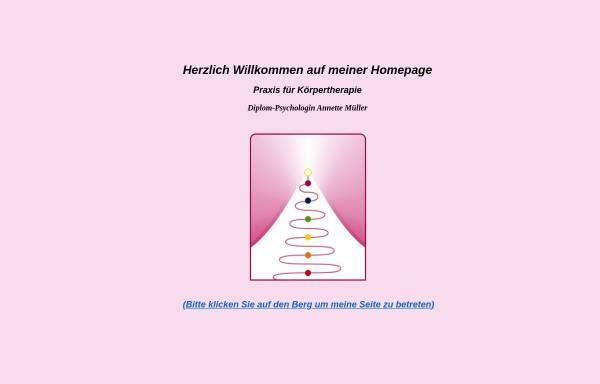 Vorschau von www.koerpertherapie-sb.de, Müller, Annette Diplom-Psychologin, Praxis für Körpertherapie