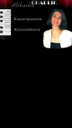 Vorschau der mobilen Webseite www.chaplik.de, Chaplik, Aleksandra