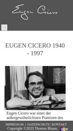 Vorschau der mobilen Webseite www.eugen-cicero.de, Cicero, Eugen