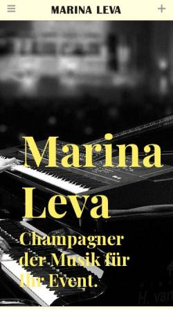 Vorschau der mobilen Webseite marinaleva.com, Leva, Marina