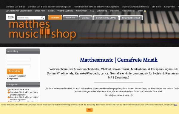Vorschau von www.matthesmusic.de, Matthes, Ronny