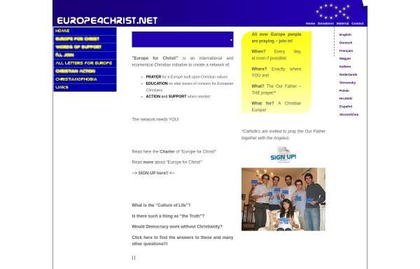 Vorschau von www.europe4christ.net, europe4christ.net