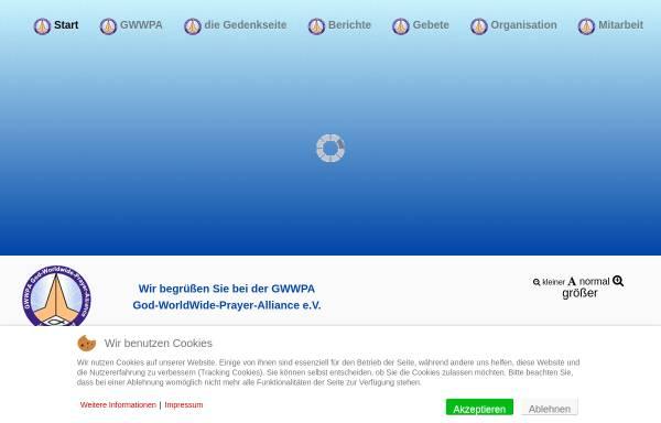 Vorschau von www.gwwpa.de, God-WorldWide-Prayer-Alliance e.V.