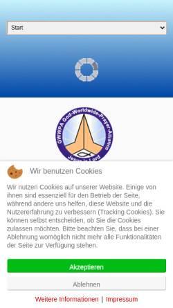 Vorschau der mobilen Webseite www.gwwpa.de, God-WorldWide-Prayer-Alliance e.V.