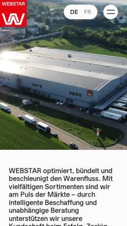 Vorschau der mobilen Webseite www.webstar.ch, E. Weber & Cie AG