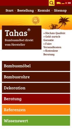 Vorschau der mobilen Webseite www.tahas.de, Tahas Marketing, Inh. Stefan Kitanov