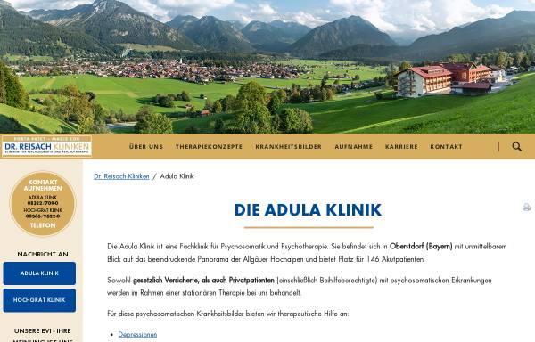 Vorschau von www.dr-reisach-kliniken.de, Adula Klinik Oberstdorf