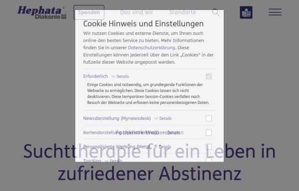 Vorschau von www.hephata.de, Fachklinik und Suchtklinik Weibersbrunn Hephata e.V.