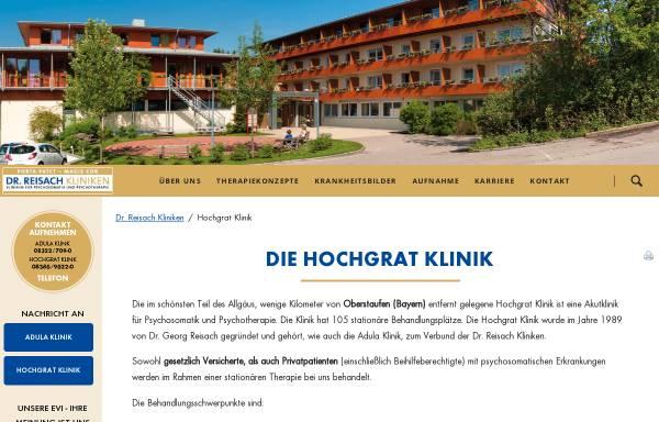 Vorschau von www.dr-reisach-kliniken.de, Hochgrat Klinik Wolfsried