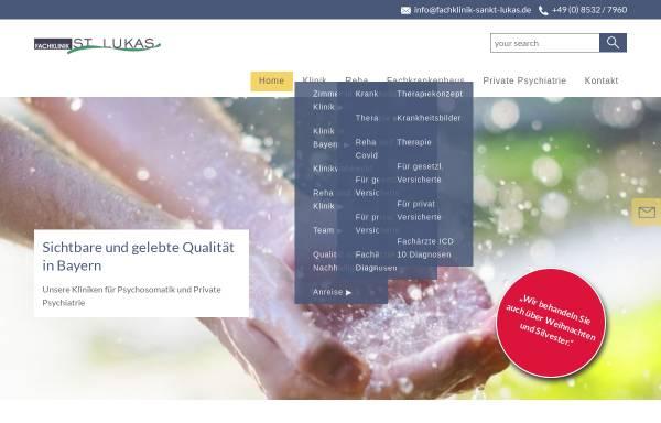 Vorschau von www.fachklinik-sankt-lukas.de, Fachklinik Sankt Lukas