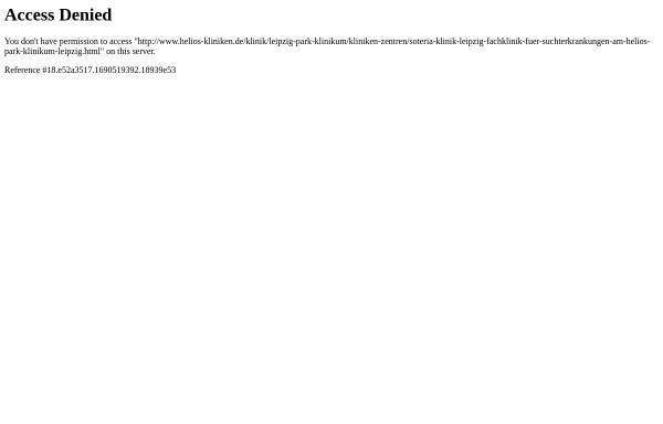 Vorschau von www.helios-kliniken.de, Soteria Klinik Leipzig
