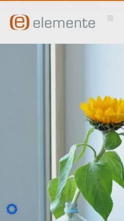 Vorschau der mobilen Webseite www.elemente-designagentur.ms, Elemente Designagentur