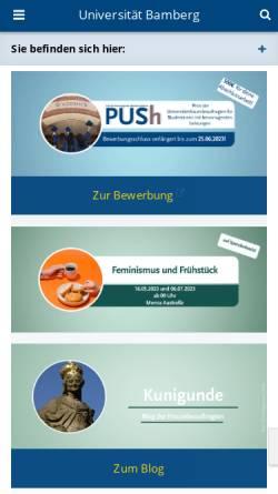 Vorschau der mobilen Webseite www.uni-bamberg.de, Gender- und Frauenforschung Uni Bamberg
