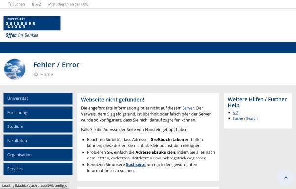 Vorschau von www.uni-due.de, Gender-Portal