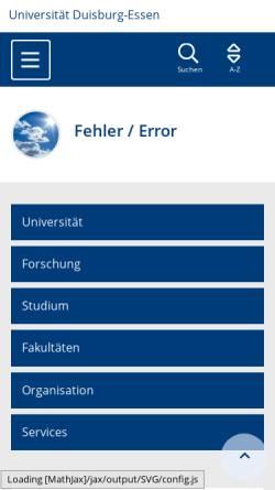 Vorschau der mobilen Webseite www.uni-due.de, Gender-Portal