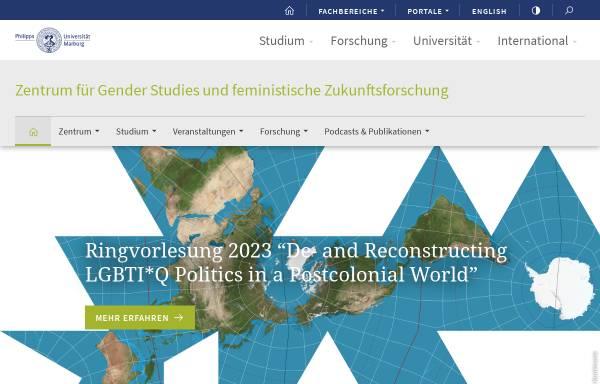 Vorschau von www.uni-marburg.de, Genderzukunft