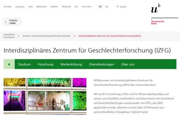 Vorschau von www.izfg.unibe.ch, IZFG - Uni Bern