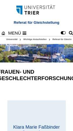 Vorschau der mobilen Webseite www.uni-trier.de, ZIG der Universität Trier