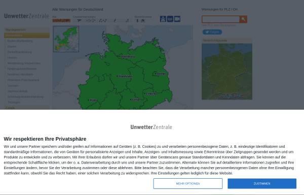 Vorschau von www.unwetterzentrale.de, UnwetterZentrale