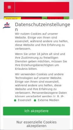 Vorschau der mobilen Webseite www.streetball-team.de, Streetball Team