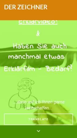Vorschau der mobilen Webseite www.der-zeichner.de, Friedhelm Maria Leistner