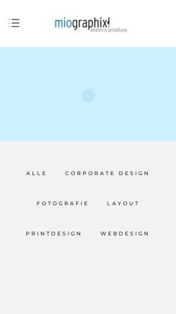 Vorschau der mobilen Webseite www.miographix.de, miographix! medien & gestaltung
