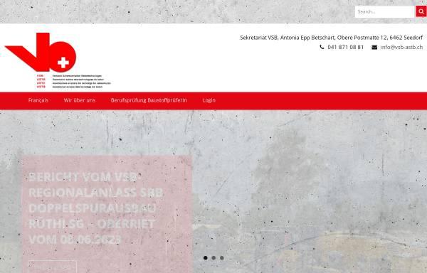 Vorschau von www.vsb-astb.ch, Verband Schweizerischer Betontechnologen