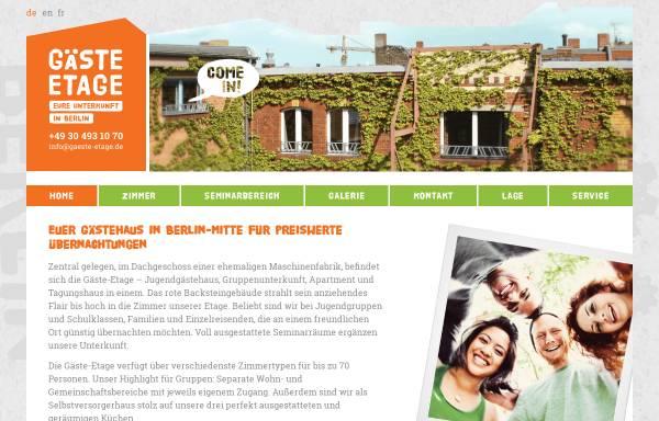 Vorschau von www.gaeste-etage.de, Gäste-Etage Berlin