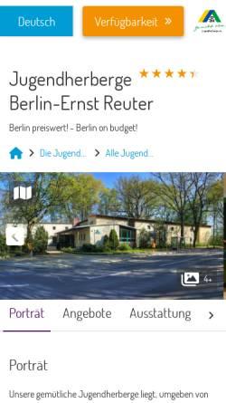 Vorschau der mobilen Webseite www.jh-ernst-reuter.de, Jugendherberge Ernst Reuter Berlin