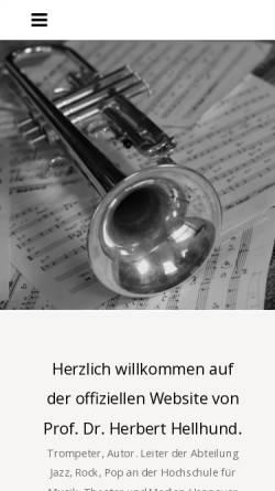 Vorschau der mobilen Webseite www.herberthellhund.de, Hellhund, Herbert, Prof. Dr.