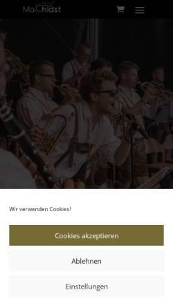 Vorschau der mobilen Webseite www.machlast.at, MaChlast Blaskapelle