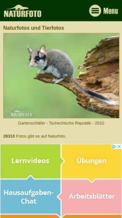 Vorschau der mobilen Webseite www.naturfoto-cz.de, Bohdal, Jiri