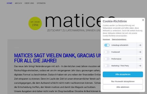 Vorschau von www.matices-magazin.de, Matices Magazin