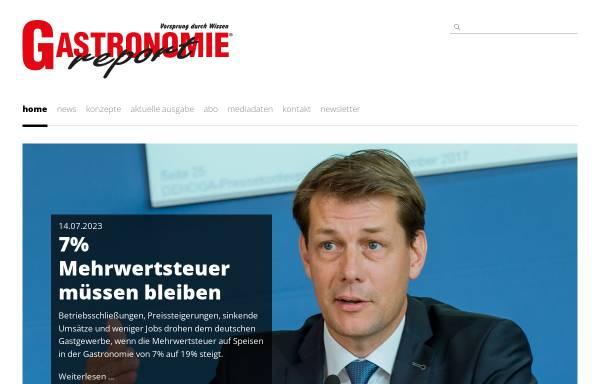 Vorschau von gastronomie-report.de, Gastronomie Report - Gastronomie Report Verlags GmbH