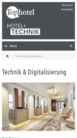 Vorschau der mobilen Webseite www.hotel-technik.com, Hotel & Technik - AT-Fachverlag GmbH