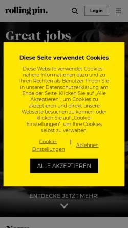 Vorschau der mobilen Webseite www.rollingpin.at, Rolling Pin International Swiss GesmbH