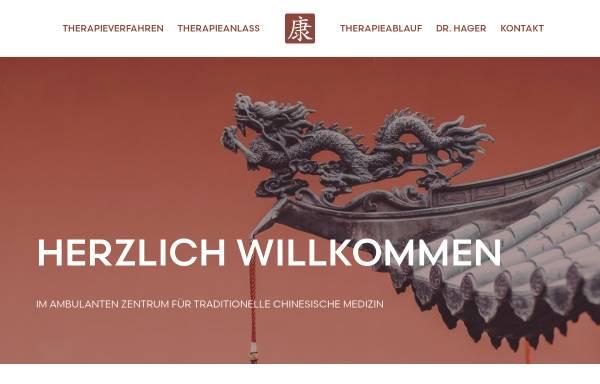 Vorschau von www.dr-hager.de, Ambulantes Zentrum für Traditionelle Chinesische Medizin