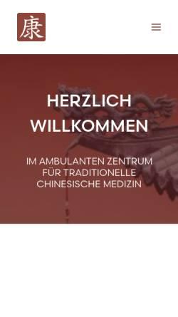 Vorschau der mobilen Webseite www.dr-hager.de, Ambulantes Zentrum für Traditionelle Chinesische Medizin