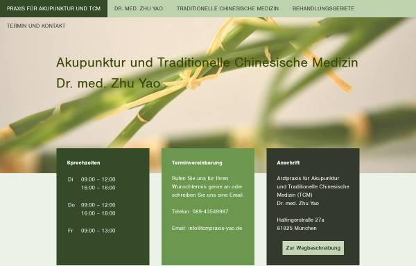 Vorschau von www.tcmpraxis-yao.de, Dr. med. Zhu Yao