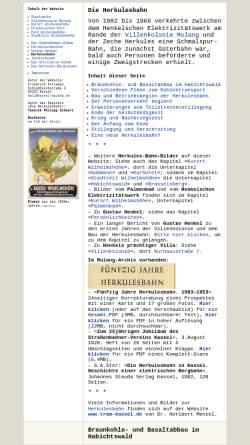 Vorschau der mobilen Webseite www.kassel-wilhelmshoehe.de, Die Herkulesbahn in Kassel