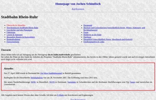 Vorschau von www.jochen-schoenfisch.de, Jochen Schönfisch: Stadtbahn Rhein-Ruhr